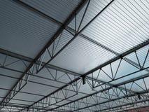 Illustration des Industriegebäude-Metalldach-3d Lizenzfreie Stockbilder