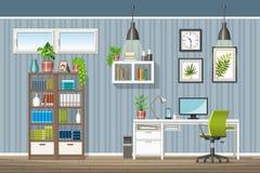 Illustration des Innenraums eines modernen Innenministeriums Lizenzfreies Stockfoto