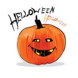 Illustration des Kürbises für Halloween Stockbild