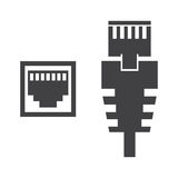 Illustration des Kabels RJ45 lizenzfreie stockfotos
