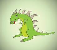 Illustration des Karikaturdinosauriervektors Lizenzfreies Stockbild