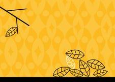 Illustration des lames d'automne au sol. Art de vecteur Images stock