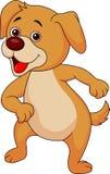 Lustiges Hundekarikaturtanzen Stockbild