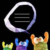 Illustration des lustigen Monsters im Dreiecktrio Lizenzfreie Stockfotos