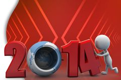 Illustration 2014 des Mannes 3d Stockfotos