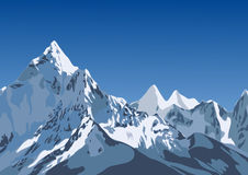 Illustration des montagnes Photos libres de droits