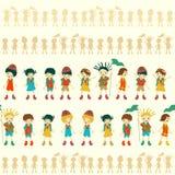 Illustration des nahtlosen Kindermusters Stockbilder