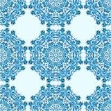 Illustration des nahtlosen Musters der Verzierung mit Mandala vektor abbildung