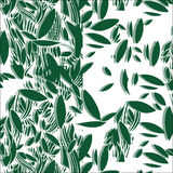 Illustration des nahtlosen Musters des grünen Laubs Stockbild