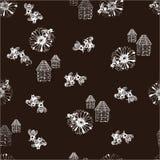 Illustration des nahtlosen Musters des Honigs Lizenzfreies Stockfoto