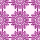 Illustration des nahtlosen Musters mit Mandala stock abbildung