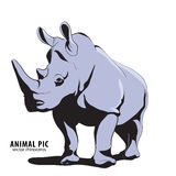 Illustration des Nashorns Stockfotografie
