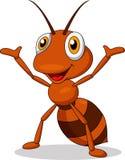 Nettes Ameisenkarikaturwellenartig bewegen lizenzfreie abbildung