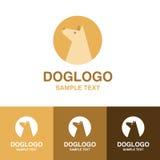 Illustration des netten Hundelogos auf weißem Hintergrund stockfotografie