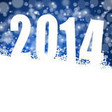 Illustration des neuen Jahres 2014 Stockfotos