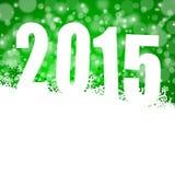 Illustration des neuen Jahres 2015 Stockfoto