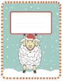 Illustration des neuen Jahres mit netten Schafen Lizenzfreies Stockfoto