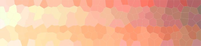 Illustration des orange wenig Hexagonhintergrundes, abstrakte Fahne stock abbildung