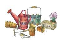 Illustration des outils de jardinage illustration stock