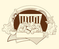 Illustration des pépites dans le paquet illustration de vecteur