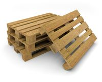 Illustration des Palettenholztransports 3D Vektor Abbildung