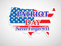 Illustration des Patriot-Tageshintergrundes lizenzfreie abbildung