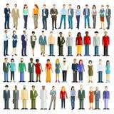 Illustration des personnes de l'autre côté du monde Image libre de droits