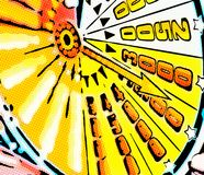 Illustration des Pfeilpunktergebnisses vereinbarte radial lizenzfreies stockfoto
