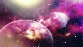 illustration des plan?tes et de la galaxie, papier peint de la science-fiction brouill? image libre de droits