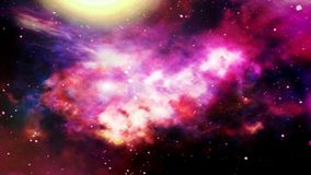 illustration des plan?tes et de la galaxie, papier peint de la science-fiction brouill? photographie stock