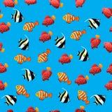 Illustration des poissons mauresques d'idole Images libres de droits