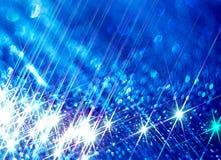 Illustration des rayons brillants sur un fond bleu illustration libre de droits