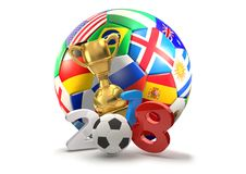 Illustration des Russland-Fußballtrophäen-Symbols 3d Stockbild