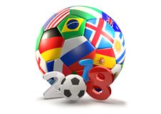 Illustration des Russland-Fußballtrophäen-Symbols 3d Lizenzfreie Stockfotos