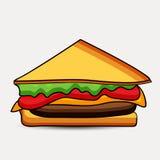 Illustration des Sandwiches Stockfotografie