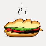 Illustration des Sandwiches Lizenzfreie Stockfotografie