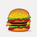 Illustration des Sandwiches Stockfotos
