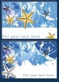 Illustration des Schablonenrahmendesigns für Karte Stockfotos