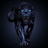 Illustration des schwarzen Panthers Stockfoto