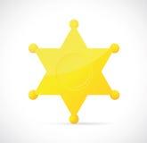 Sheriffstern-Abzeichenkarikatur Stockfoto