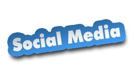 Illustration des Social Media-Konzeptes 3d lokalisiert stock abbildung