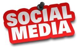 Illustration des Social Media-Konzeptes 3d lokalisiert lizenzfreie abbildung