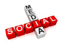 Illustration des Social Media-Würfel-Konzeptes 3d vektor abbildung