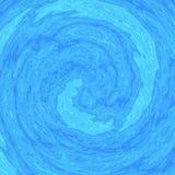 Illustration des Strudels des blauen Wassers Lizenzfreies Stockfoto
