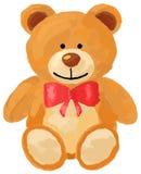 Illustration des Teddybärspielzeugs für Liebeshintergrund stock abbildung