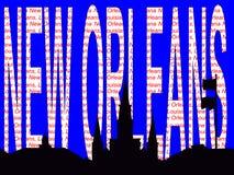 Illustration des textes de la Nouvelle-Orléans Image libre de droits