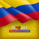Illustration des Unabhängigkeitstags von Kolumbien Stockfotografie