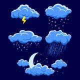 Illustration des unterschiedlichen Wetters Lizenzfreie Stockbilder