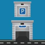 Illustration des Vektor-Garagentor-Designs ENV 10 Stockfotografie