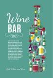 Illustration des Vektors auf Lager des Weins Stockbild